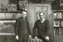 Zygmunt Pniewski i Arkady Fiedler w pracowni pisarza, Poznań 1966 r. fot. S. Pniewski